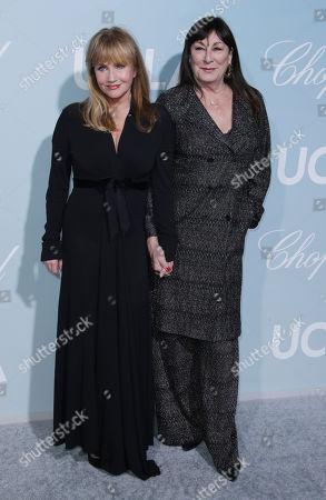 Rebecca De Mornay and Anjelica Huston