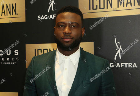 Sinqua Walls arrives at the 7th Annual ICON MANN Pre-Oscar Dinner at the Waldorf Astoria, in Beverly Hills, Calif