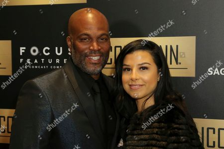 Chris Spencer, Vanessa Rodriguez Spencer. Chris Spencer, left, and Vanessa Rodriguez Spencer arrive at the 7th Annual ICON MANN Pre-Oscar Dinner at the Waldorf Astoria, in Beverly Hills, Calif