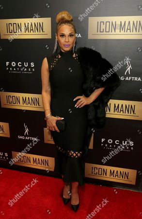 Sheree Fletcher arrives at the 7th Annual ICON MANN Pre-Oscar Dinner at the Waldorf Astoria, in Beverly Hills, Calif