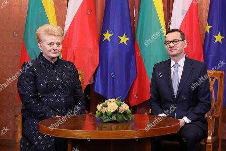 President of Lithuania Dalia Grybauskaite visit to Poland