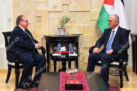 Palestinian Prime Minister, Rami Hamdallah, meets with Ambassador of Uruguay to Palestinian Territories Jorge Cassinelli