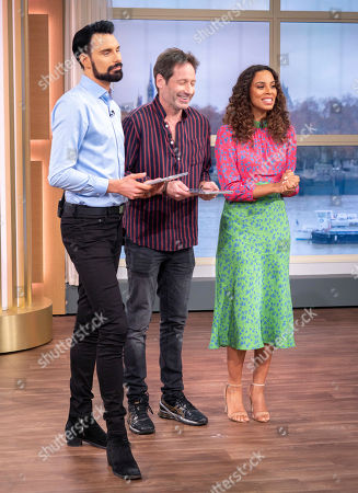 Rylan Clark and Rochelle Humes with David Duchovny
