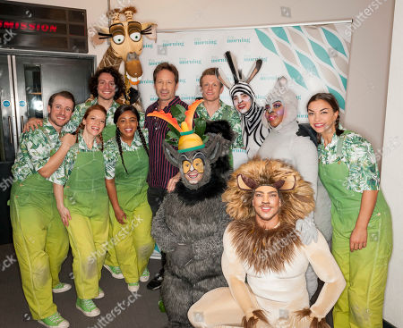 David Duchovny and The cast of Madagascar