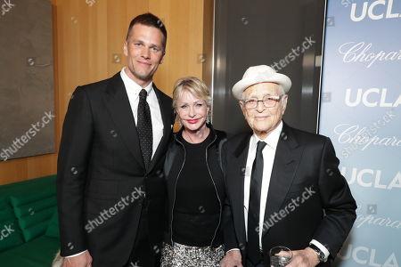 Tom Brady, Lyn Lear and Norman Lear