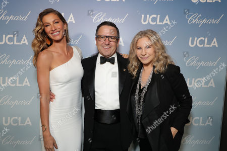 Stock Image of Gisele Bundchen, Anthony Pritzker and Barbra Streisand
