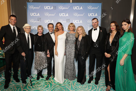 Tom Brady, Norman Lear, Lyn Lear, Lawrence Bender, Gisele Bundchen, Alexandria Jackson, Barbra Streisand, Milutin Gatsby and guests