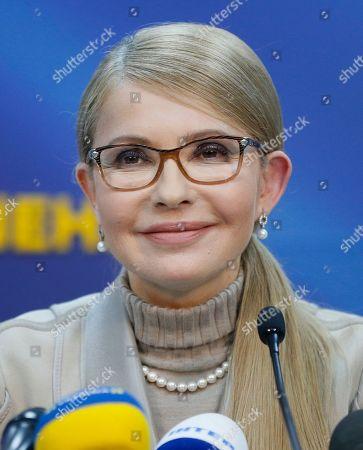 Presidential candidate Yulia Tymoshenko press conference, Kiev