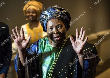 Stock Photo of South African Minister for Planning, Monitoring and Evaluation Nkosazana Dlamini-Zuma (R) attends the Colloquium on Land Reform held at the Saint George Hotel and Conference Centre in Irene, Pretoria, South Africa, 22 February 2019. The two day meeting will be focused on the way forward with regard to the highly emotional topic of land reform in the country.