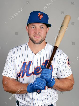 This is a 2019 photo of Tim Tebow of the New York Mets baseball team. This image reflects the 2019 active roster as of, when this image was taken