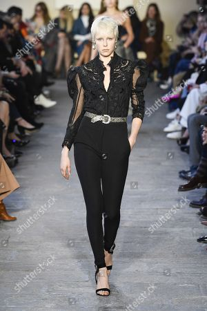 Edie Campbell on the catwalk
