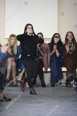 Stock Image of Veronica Etro on the catwalk