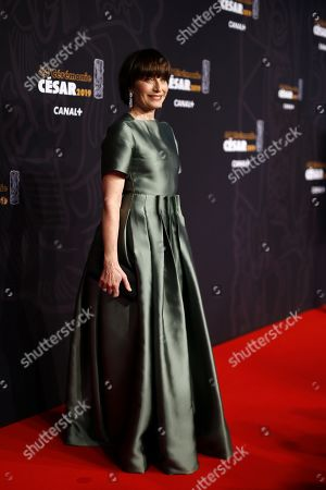 Mistress of Ceremony, Kristin Scott Thomas arrives for the 44th annual Cesar awards ceremony held at the Salle Pleyel concert hall in Paris, France, 22 February 2019.