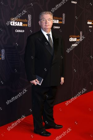 Dominique Besnehard arrives for the 44th annual Cesar awards ceremony held at the Salle Pleyel concert hall in Paris, France, 22 February 2019.