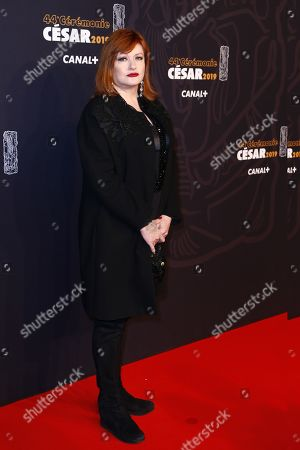 Stock Picture of Catherine Jacob arrives for the 44th annual Cesar awards ceremony held at the Salle Pleyel concert hall in Paris, France, 22 February 2019.