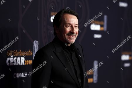 Jean-Hugues Anglade arrives for the 44th annual Cesar awards ceremony held at the Salle Pleyel concert hall in Paris, France, 22 February 2019.