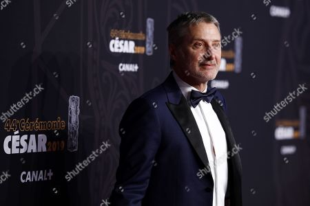 Antoine de Caunes arrives for the 44th annual Cesar awards ceremony held at the Salle Pleyel concert hall in Paris, France, 22 February 2019.