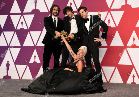 Stock Photo of Mark Ronson, Lady Gaga, Anthony Rossomando and Andrew Wyatt - Original Song - 'Shallow', A Star Is Born'