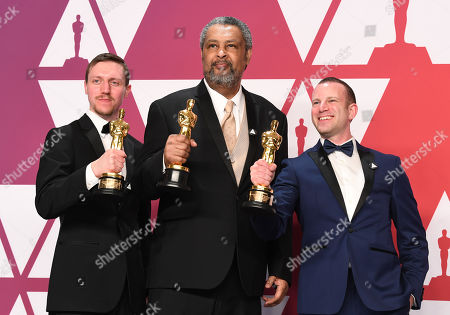 Stock Image of Charlie Wachtel, David Rabinowitz and Kevin Willmott - Best Adapted Screenplay - 'BlacKkKlansman'