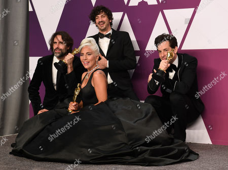 Stock Image of Mark Ronson, Lady Gaga, Anthony Rossomando and Andrew Wyatt - Original Song - 'Shallow', 'A Star Is Born'
