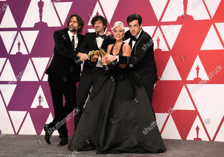 Stock Picture of Mark Ronson, Lady Gaga, Anthony Rossomando and Andrew Wyatt - Original Song - 'Shallow', 'A Star Is Born'