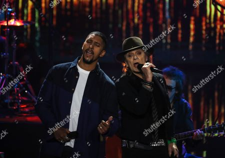 Andreas Bourani (L) and Udo Lindenberg perform during the national selection final for the 64th annual Eurovision Song Contest (ESC) in Berlin, Germany, 22 February 2019. The winner of the national preliminary decision, dubbed 'Unser Lied fuer Israel' (lit.: Our Song for Israel), will represent Germany in the ESC 2019 that will take place at the International Congress Center Expo in Tel Aviv, Israel from 14 to 18 May.