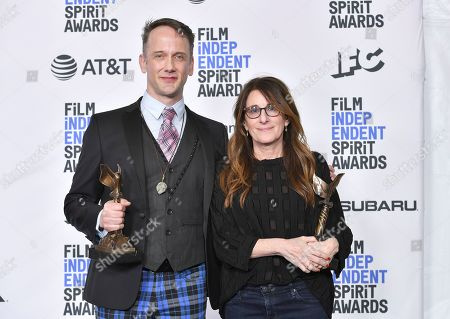 Stock Picture of Jeff Whitty and Nicole Holofcener - Best Screenplay - 'Can You Ever Forgive Me?'