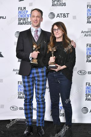 Stock Image of Jeff Whitty and Nicole Holofcener - Best Screenplay - 'Can You Ever Forgive Me?'