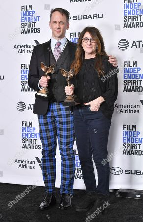Stock Photo of Jeff Whitty and Nicole Holofcener - Best Screenplay - 'Can You Ever Forgive Me?'