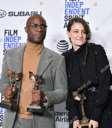Stock Image of Barry Jenkins and Adele Romanski - Best Feature - 'If Beale Street Could Talk'