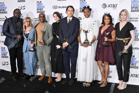 Stock Picture of Brian Tyree Henry, Dede Gardner, Barry Jenkins, Adele Romanski, Jeremy Kleiner KiKi Layne, Regina King and Sara Murphy - Best Feature - 'If Beale Street Could Talk'