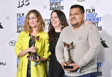 Lindsey Cordero, Geloel Ramirez and Caroline Kaplan - John Cassavetes Award - 'En El Séptimo Día'