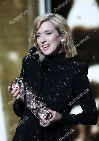Stock Picture of Lea Drucker receives the Best Actress award for her performance in 'Jusqu'a la Garde' during the 44th annual Cesar awards ceremony held at the Salle Pleyel concert hall in Paris, France, 22 February 2019.