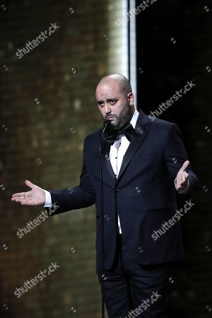 Jerome Commandeur speaks during the 44th annual Cesar awards ceremony held at the Salle Pleyel concert hall in Paris, France, 22 February 2019.