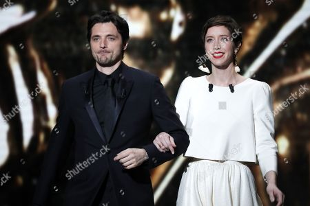 Stock Photo of Raphael Personnaz and Sara Giraudeau attend the 44th annual Cesar awards ceremony held at the Salle Pleyel concert hall in Paris, France, 22 February 2019.