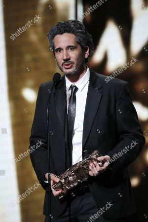 Jean-Bernard Marlin receives the Best First Movie award for his movie 'Sheherazade' during the 44th annual Cesar awards ceremony held at the Salle Pleyel concert hall in Paris, France, 22 February 2019.