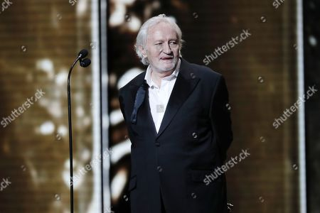 Niels Arestrup speaks during the 44th annual Cesar awards ceremony held at the Salle Pleyel concert hall in Paris, France, 22 February 2019.