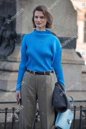 Editorial photo of Street Style, Fall Winter 2019, Milan Fashion Week, Italy - 22 Feb 2019