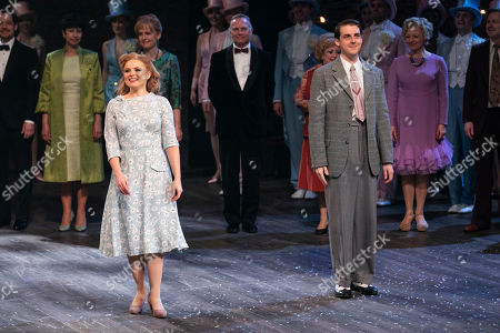Gemma Sutton (Young Sally) and Harry Hepple (Young Buddy) during the curtain call