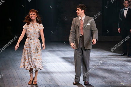Christine Tucker (Young Phyllis) and Ian McIntosh (Young Ben) during the curtain call