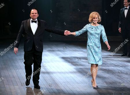 Peter Forbes (Buddy Plummer) and Joanna Riding (Sally Durant Plummer) during the curtain call