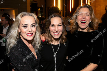 Tracie Bennett (Carlotta Campion), Joanna Riding (Sally Durant Plummer) and Janie Dee (Phyllis Rogers Stone)