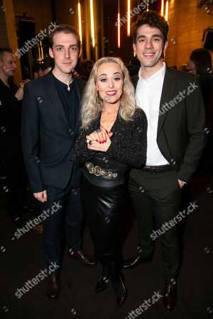 Harry Hepple (Young Buddy), Tracie Bennett (Carlotta Campion) and Ian McIntosh (Young Ben)