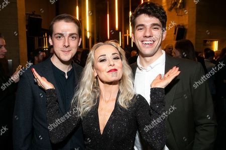 Stock Image of Harry Hepple (Young Buddy), Tracie Bennett (Carlotta Campion) and Ian McIntosh (Young Ben)