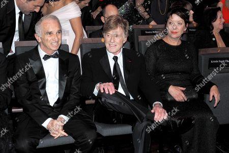 Alain Terzian, Robert Redford and Sibylle Szaggars