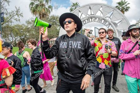 Win Butler of Arcade Fire seen at the 2019 Krewe du Kanaval Parade, in New Orleans