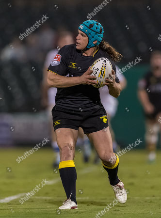 Houston SaberCats hooker Pat O'Toole (2) during the exhibition game between the Toronto Arrows and the Houston SaberCats at Constellation Field, Sugar Land, Texas. Half Time Toronto Arrows are up over the Houston SaberCats 27-10. ©Maria Lysaker / Cal Sports Media