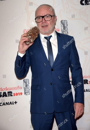 Stock Picture of Director Olivier Baroux winner of the award for Public Award for the film Les Tuches 3