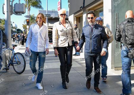 Brigitte Nielsen, Raoul Meyer Jr and Mattia Dessi
