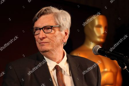 President of the Academy of Motion Picture Arts and Sciences John Bailey speaks at the 91st Academy Awards Foreign Language Nominees Reception at the LACMA, in Los Angeles